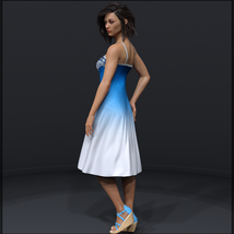 Ombre Fashion dForce Dress for Genesis 8 Females image 1