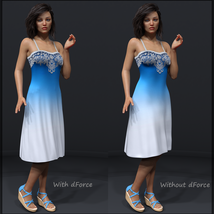 Ombre Fashion dForce Dress for Genesis 8 Females image 2