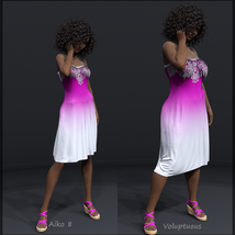 Ombre Fashion dForce Dress for Genesis 8 Females image 3