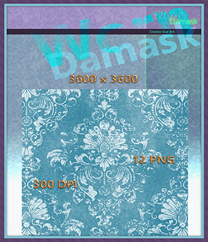 CSA Worn Damask Fabric Background Backdrop Textures - BBT  2D Graphics CreativeSoulArts
