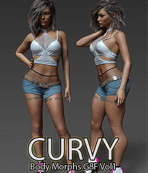 Curvy Body Morphs for G8F Vol 1 3D Figure Assets Merchant Resources Anagord
