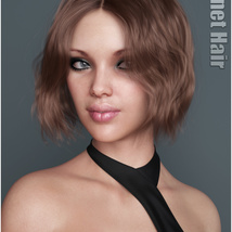 Janet Hair for Genesis 3 and 8 Females image 1