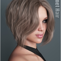 Janet Hair for Genesis 3 and 8 Females image 2