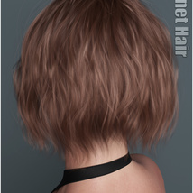 Janet Hair for Genesis 3 and 8 Females image 3