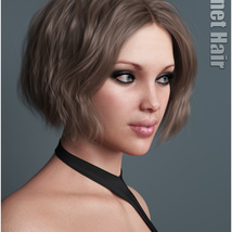 Janet Hair for Genesis 3 and 8 Females image 4