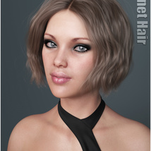 Janet Hair for Genesis 3 and 8 Females image 5