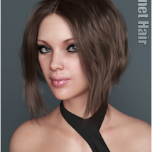 Janet Hair for Genesis 3 and 8 Females image 6
