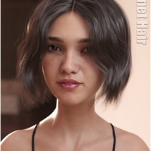 Janet Hair for Genesis 3 and 8 Females image 8