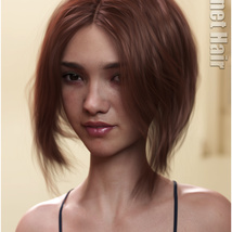 Janet Hair for Genesis 3 and 8 Females image 9