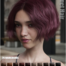 Janet Hair for Genesis 3 and 8 Females image 10