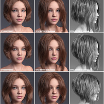 Janet Hair for Genesis 3 and 8 Females image 11