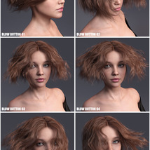 Janet Hair for Genesis 3 and 8 Females image 12