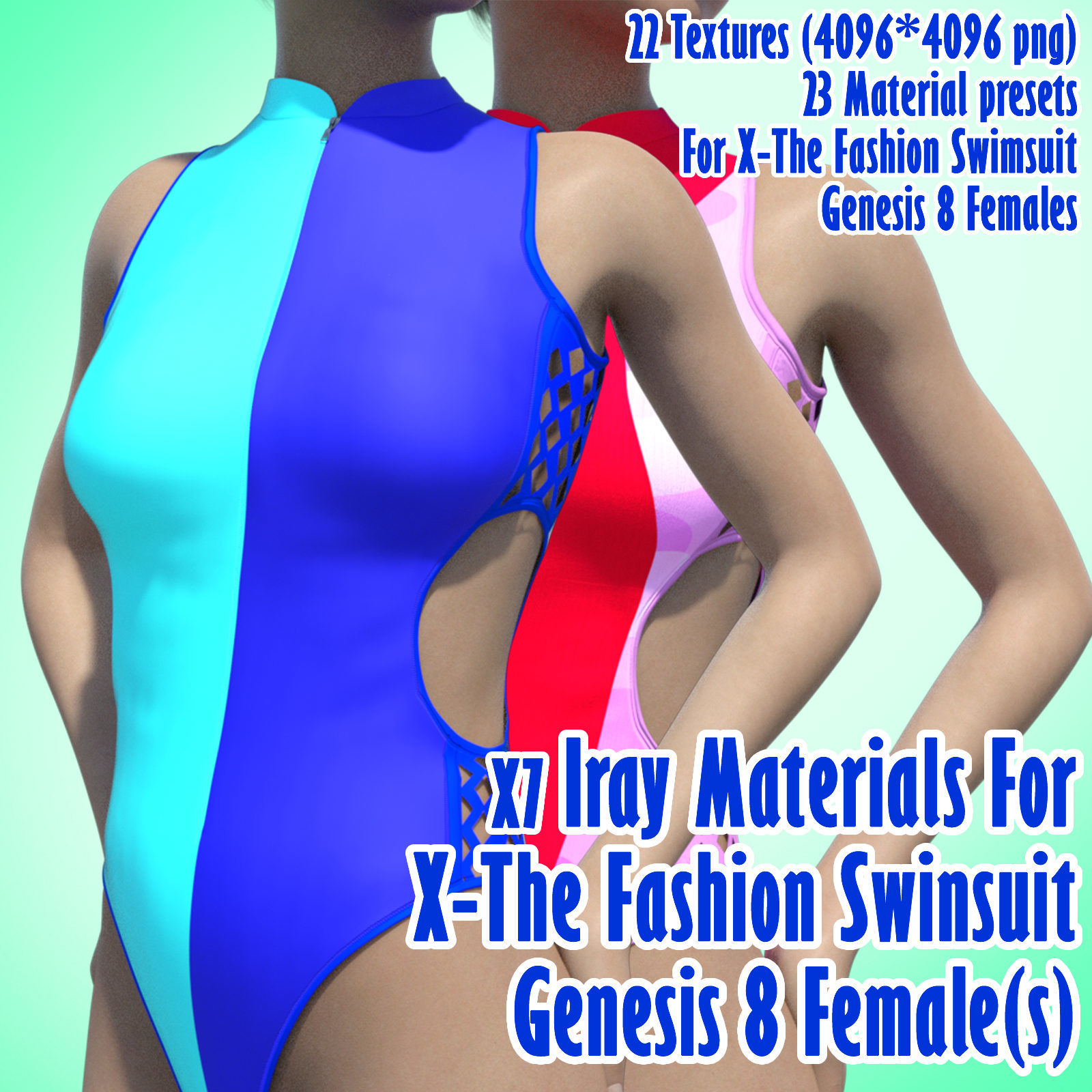 X7 Iray Materials For X-The Fashion Swimsuit Genesis 8 Females