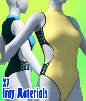 X7 Iray Materials For X-The Fashion Swimsuit Genesis 8 Females 3D Figure Assets x7