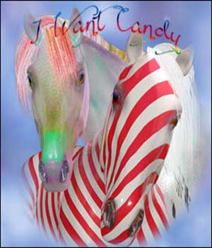 Faery Dreaming-Christmas Candy for Harry, the HiveWire Horse. 3D Figure Assets BluEcho