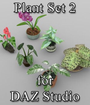 Plants Set 1 for DAZ Studio 3D Models VanishingPoint