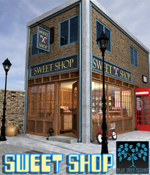 Sweet Shop for Poser 3D Models BlueTreeStudio