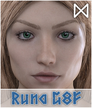 Runa for Genesis 8 Female 3D Figure Assets Dimensionarium