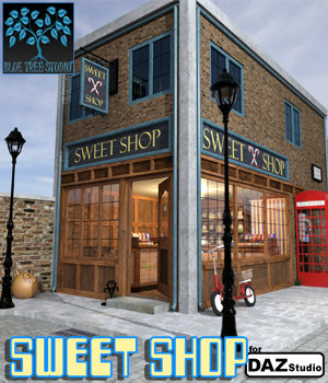 Sweet Shop for Daz Studio 3D Models BlueTreeStudio