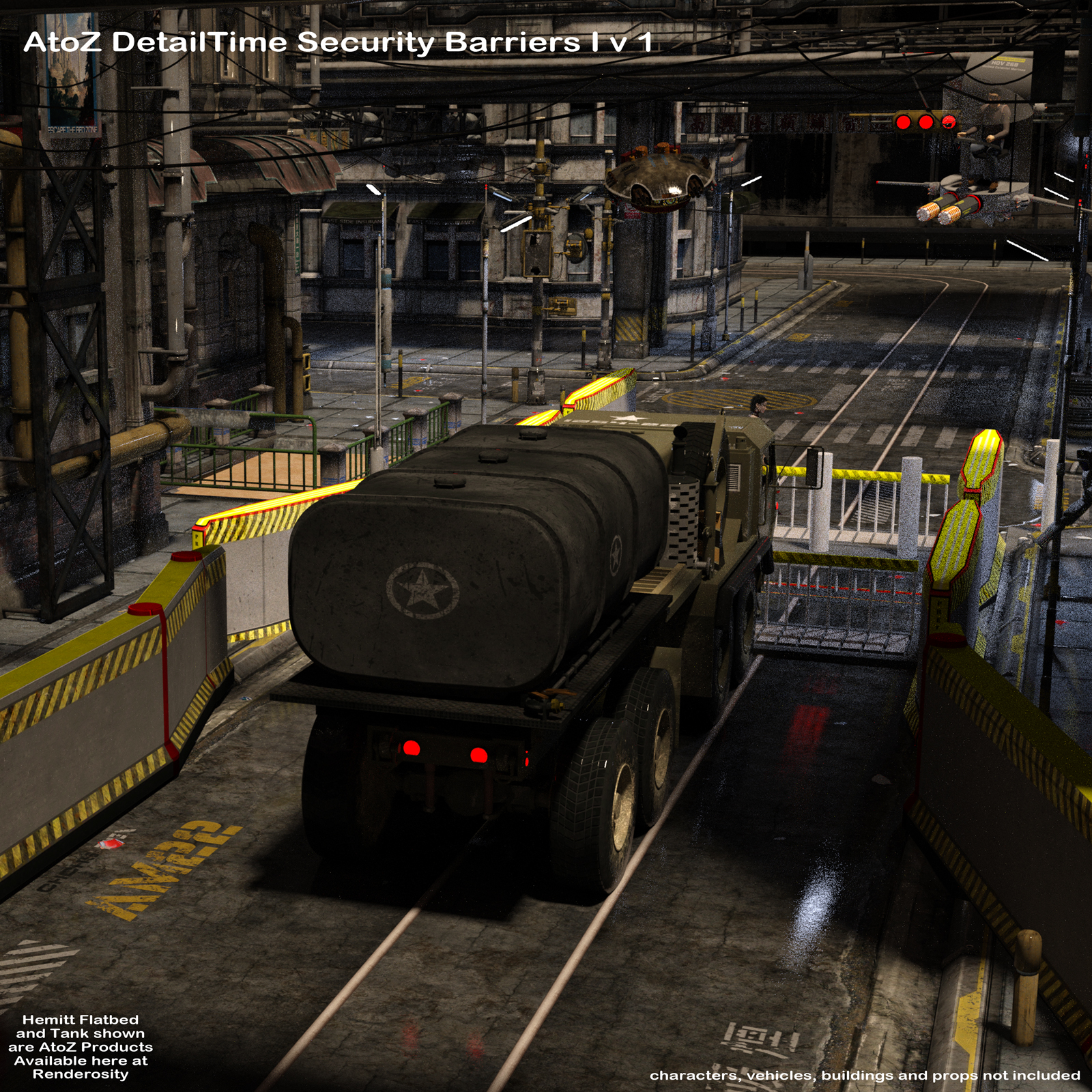 AtoZ DetailTime Roadway Security I v1 for Poser and DS by AtoZ