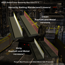 AtoZ DetailTime Roadway Security I v1 for Poser and DS image 2