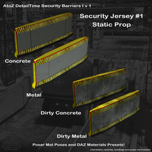 AtoZ DetailTime Roadway Security I v1 for Poser and DS image 3
