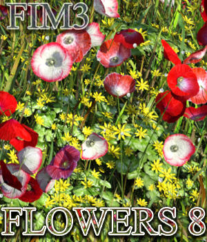 Flinks Instant Meadow 3 - Flowers 8 3D Models Flink