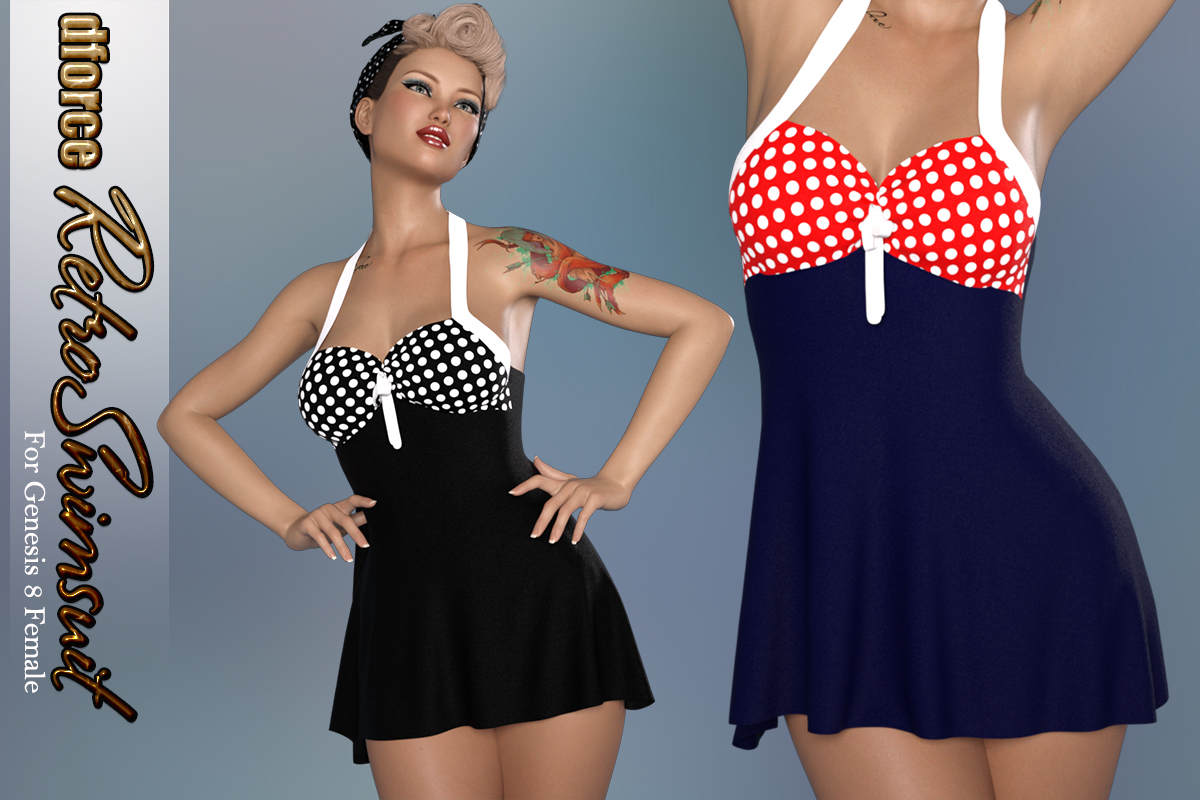dforce Retro Swimsuit