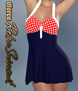 dforce Retro Swimsuit 3D Figure Assets Calico