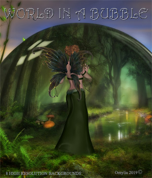 World in a Bubble 2D Graphics ornylia