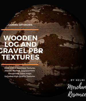 Wooden Log and Gravel PBR Textures - Merchant Resource 2D Graphics Merchant Resources nelmi
