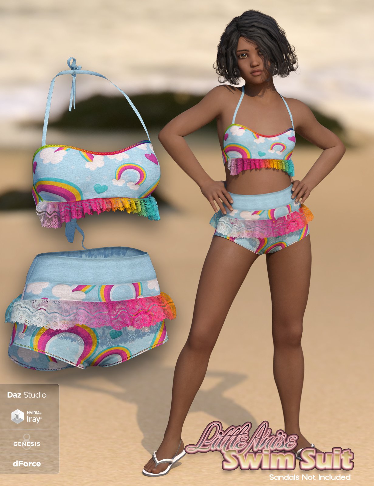 SublimelyVexed Little Anise Swimsuit G8F by 3DSublimeProductions