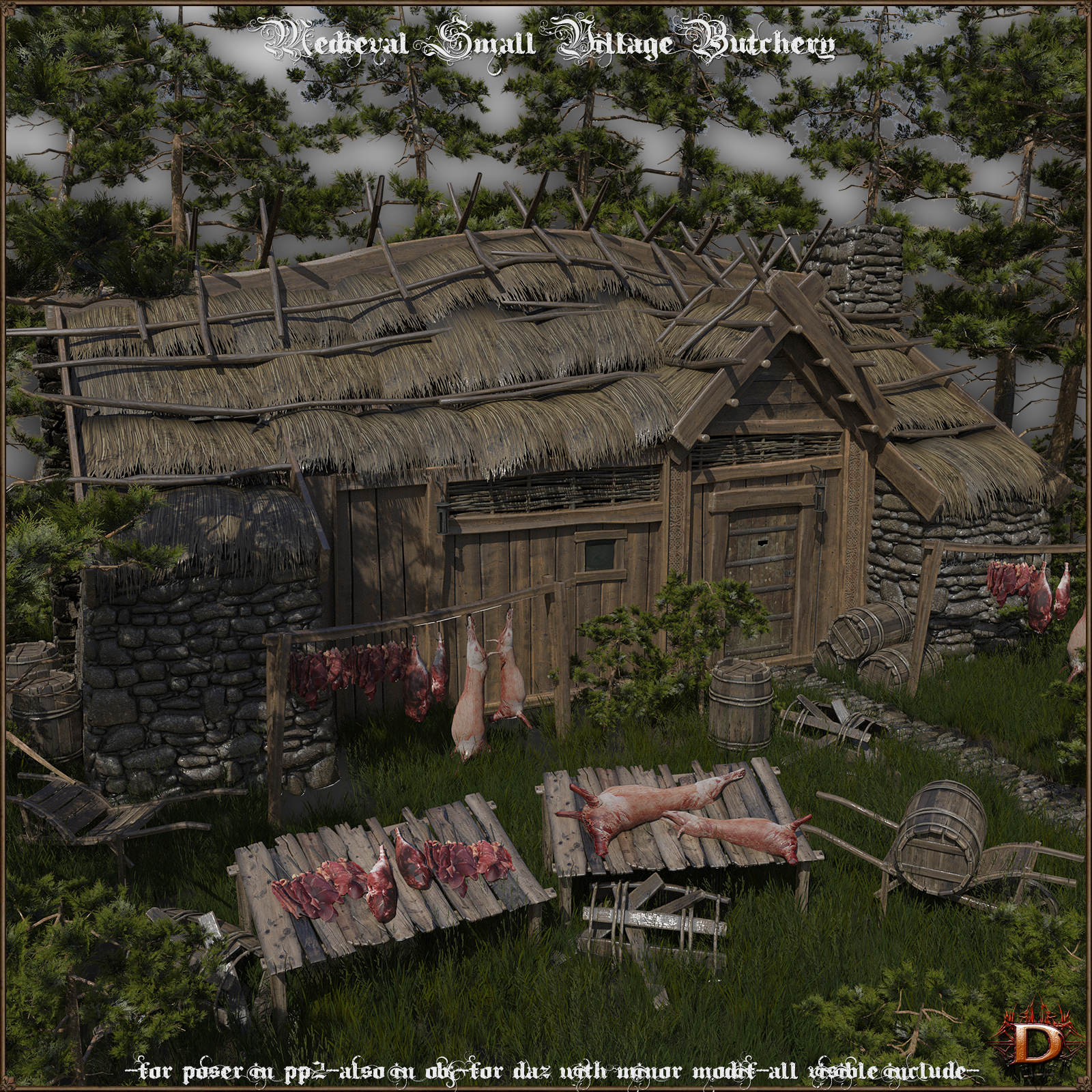 Medieval Small Village Butchery
