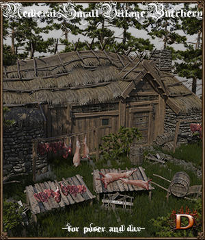 Medieval Small Village Butchery 3D Models Dante78