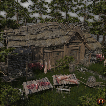 Medieval Small Village Butchery image 1