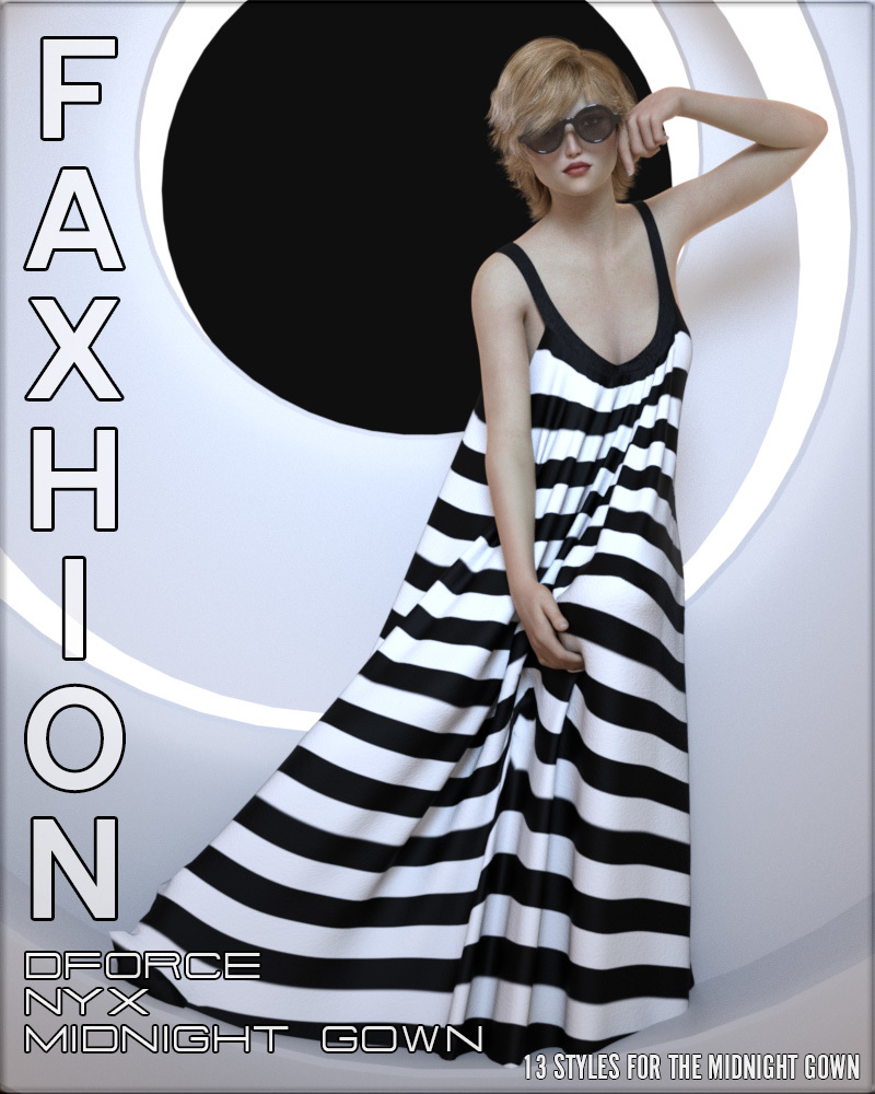 Faxhion - Nyx dForce Midnight Gown