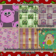 Cute Seamless Patterns image 1