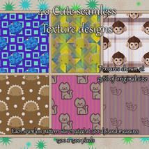 Cute Seamless Patterns image 2