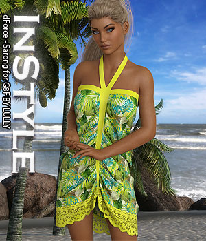 InStyle - dForce - Sarong for G8F 3D Figure Assets -Valkyrie-