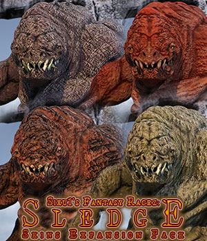 Sledge Skins Expansion Pack for Daz Studio 3D Figure Assets sixus1