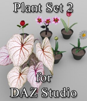 Plants Set 2 for DAZ Studio 3D Models VanishingPoint