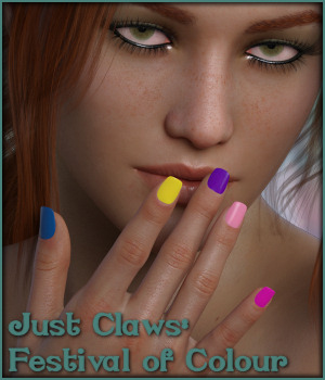 Just Claws 01: Festival of Colour L.I.E and Merchant Resource for G8F 3D Figure Assets Merchant Resources -Wolfie-