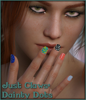 Just Claws 05: Dainty Dots L.I.E and Merchant Resource for G8F 3D Figure Assets Merchant Resources -Wolfie-