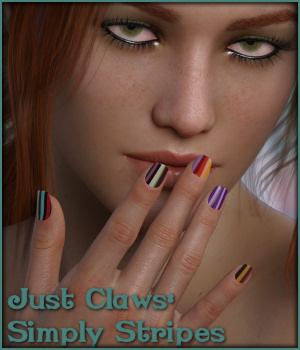 Just Claws 06: Simply Stripes L.I.E and Merchant Resource for G8F 3D Figure Assets Merchant Resources -Wolfie-