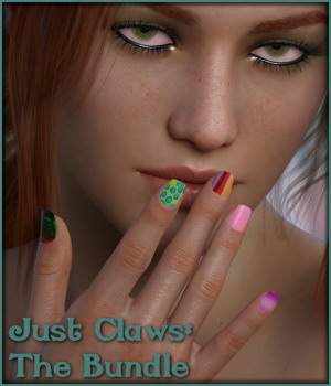 Just Claws: The Bundle L.I.E and Merchant Resource for G8F 3D Figure Assets Merchant Resources -Wolfie-