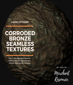 Corroded Bronze Textures - Merchant Resource 2D Graphics Merchant Resources nelmi