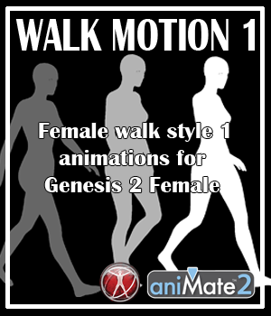 Walk Motion 1 for G2F 3D Figure Assets AnyMatter