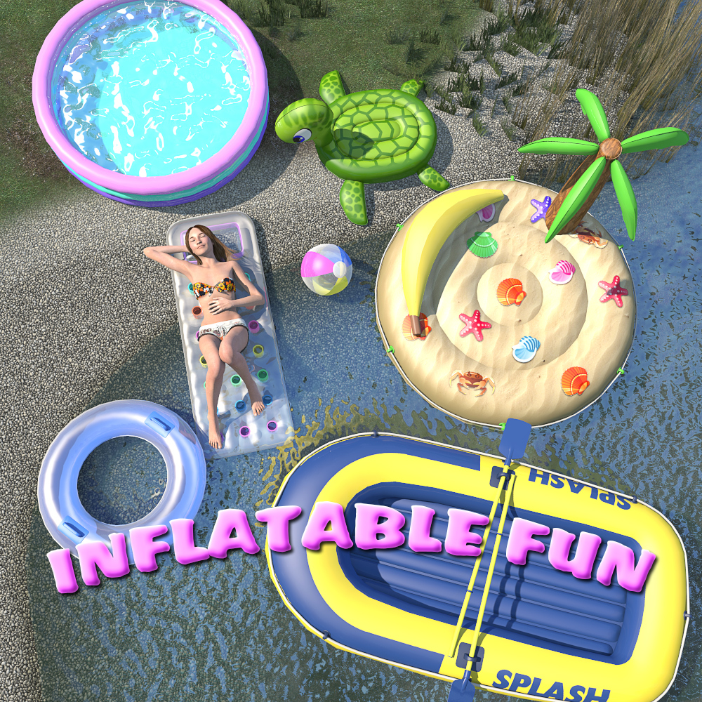 Summer series, Inflatable fun for Poser by 2nd_World