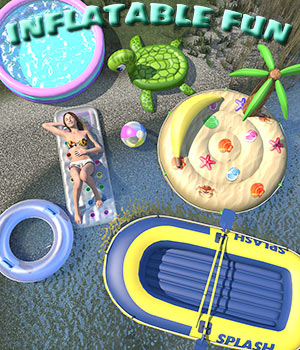 Summer series, Inflatable fun for Poser 3D Models 2nd_World