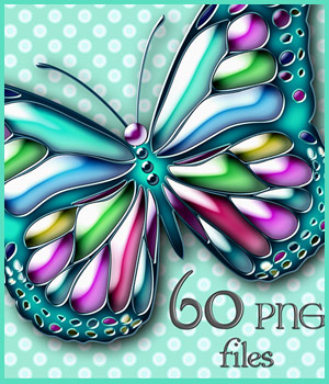 Butterfly Elements 2D Graphics adarling97